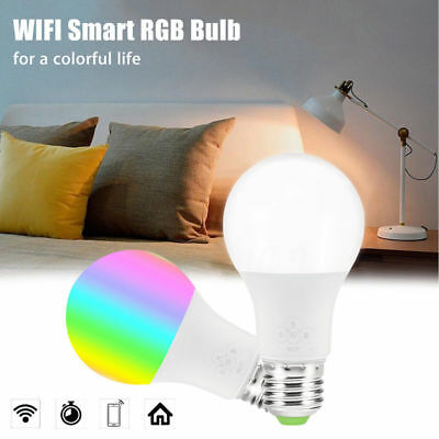 WiFi Smart Light Bulb Dimmable Wake-Up Lights Compatible Alexa & Google Assist