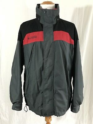 11dc1df6fda MENS COLUMBIA BOULDER Ridge Jacket with Jacket Liner Black/Green/Red ...