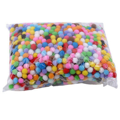 DIY Manual Multi Color Pompoms Balls Fluffy Craft Jewellery Decoration Craft CB