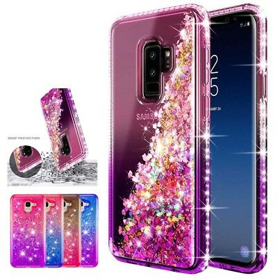 Flowing Liquid Bling Glitter Soft Phone Case Cover For Samsung Galaxy A7 J6 Plus