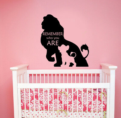 Disney Wall Decal For Boys Girls The Lion King Simba Quotes Remember