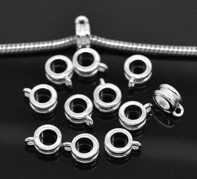 20-200 Silver Plated Alloy Loop Bail Bails Beads fit necklace Bracelet(B19544)