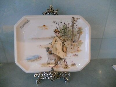 Rare Antique / Vintage Limoges Hand Painted October / Autumn Plate / Tray / Dish
