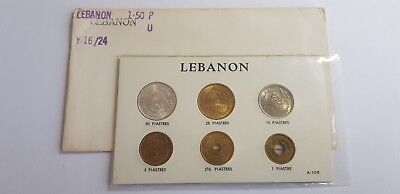 Lebanon 6 Coins UNC FULL SET 1 2.5 5 10 25 50 Pistres Collector Gift Cedar Tree