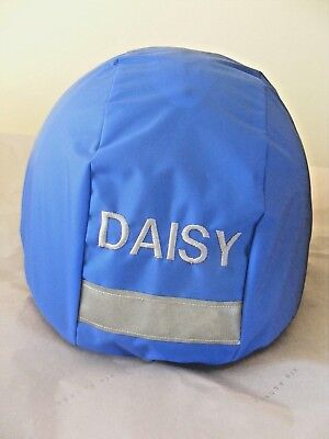 Waterproof Horse Riding Hat Cover / Reflective Strip & Personalised Embroidery