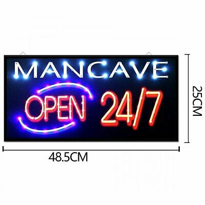 Man cave Neon Sign Light Up Letters Man Cave Game Room Decor Open LED Sign