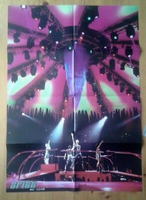 Spice Girls Fan Club double sided poster 23.5x33 inches 60x84cm concert b/w