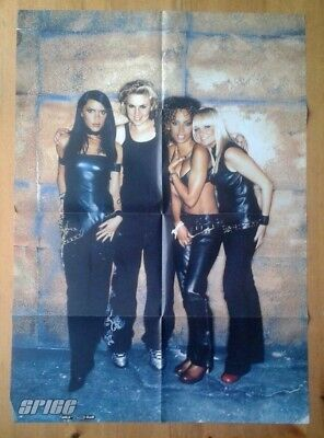 Spice Girls Fan Club double sided poster 23.5x33 inches 60x84cm standing