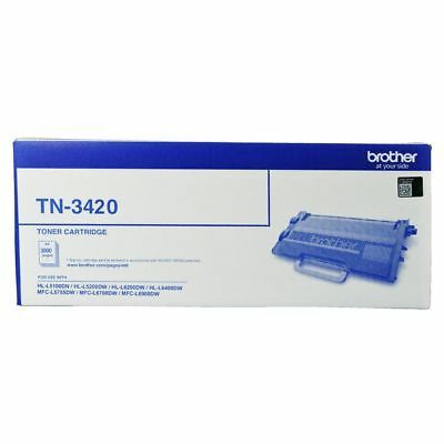 Brother TN-3420 Mono Laser Toner - High Yield to suit HL-L5100DN, L5200DW, L6...