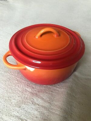Le Creuset Mini Stoneware Ceramic Limited Edition 90th Anniversary Cocotte Rare