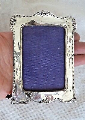 Antique 1915 Sterling / Solid Silver Photograph Frame