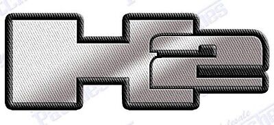 """HUMMER  H2 TRUCK SUV Iron on embroidery patch 2.5"""" X 1.0""""  EMBROIDERED  h1 h3"""