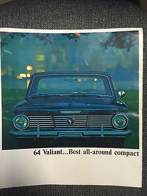 Vintage 1964 Plymouth Valiant Sales Brochure