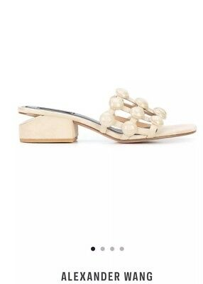 834e0d41db ALEXANDER WANG DOME Stud Lou Suede Nude Sandals 39.5 - $155.00 ...