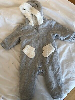 Mothercare Baby Winter Pram Suit Size 9-12 Months