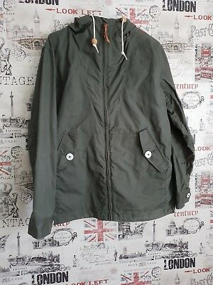 Penfield Olive Green Waxed Hooded Jacket size Medium Excellent cond