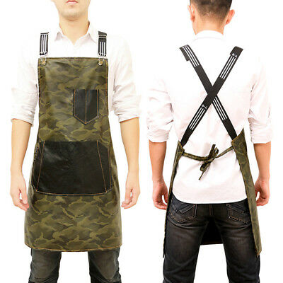 New Apron Unisex Camouflage Cafe Barista Barber Waterproof Workwear Polyurethane