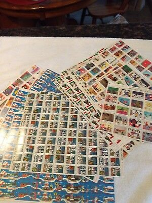 38 sheets Vintage Christmas Seals & Stickers lot
