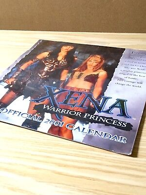 Xena Warrior Princess The Official 2001 Calendar, Unused, Sealed