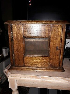 Antique Wood And Glass Cabinet