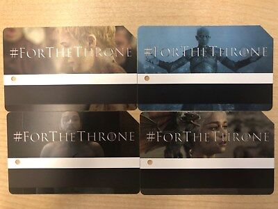 Game Of Thrones MTA Metrocard NYC Limited Edition Full Set G.O.T.
