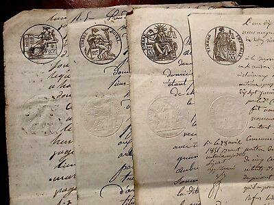 COLLECTION OF FOUR 19th Century  Documents