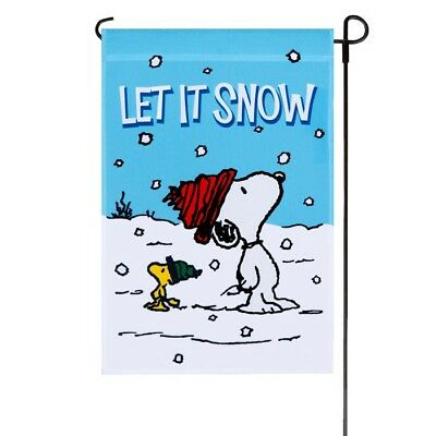 Peanuts Snoopy Woodstock Let It Snow Waiting For Winter Fun