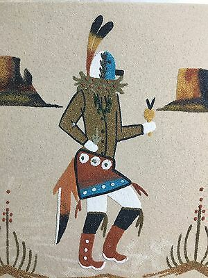 Zen Be Chai Navajo Native American Indian Sand Painting Dave Benally N.m