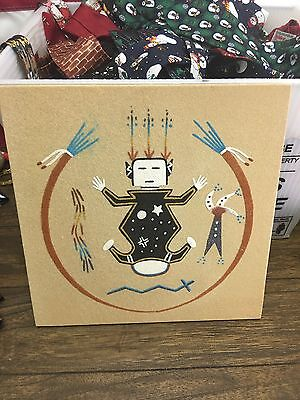 Father Sky Navajo Native American Indian Sand Painting Dave Benally N.m