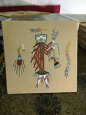 Hinch Back Navajo Native American Indian Sand Painting Dave Benally N.m