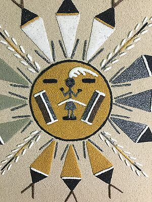 Sun & Eagle Navajo Native American Indian Sand Painting Dave Benally N.m