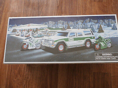 2004 Hess Trucks Sport Utility Vehicle and Motorcycles NEW in Box