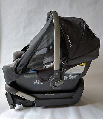 Nuna PIPA Car Seat and Base Set (Graphite) in Great Condition with Box