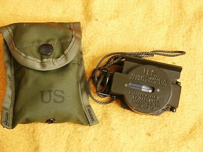 Vintage 1978 US Military Magnetic Compass with Case- Stocker & Yale