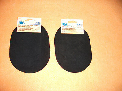 Lot Of 2 Pairs Vintage Dritz 55230 Suede Leather Elbow Patches Navy New