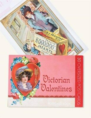 Victorian Trading Co Valentine Vintage Postcard Book 30 Cards New
