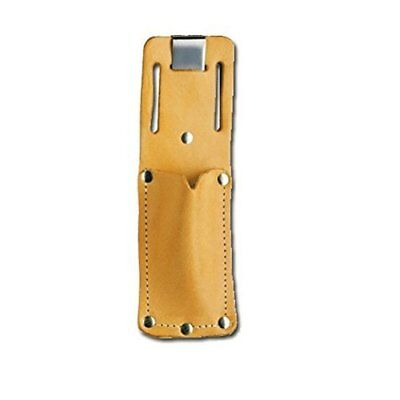 Holder Pacific Handy Cutters Tan Leather Sheath Holster + Clip Utility Belt Slot