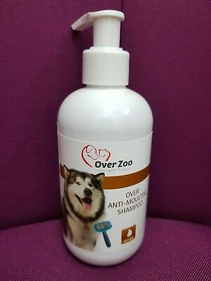 Hunde Schampoo 250 ml  OVER ZOO  Anti Haaren schampoo