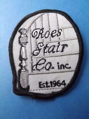 Roes Stair Company Mount Brydges Employee Patch Vintage Ontario Canada Collector
