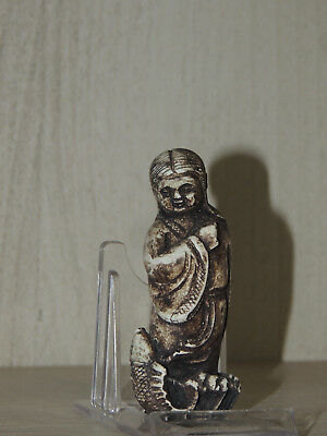 Antique Chinese Ming Dynasty Carved Stone Figure Statuette