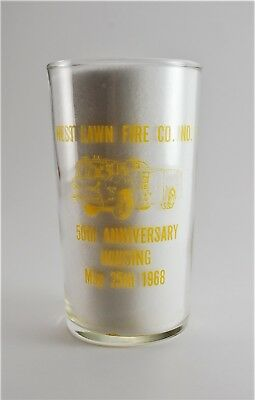 West Lawn Fire Co. 50th Anniversary Glass Cup Berks County Pennsylvania1968