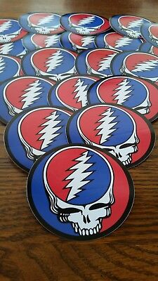 Lot Of 10 Grateful Dead Stickers. Steal Your Face. Bertha.