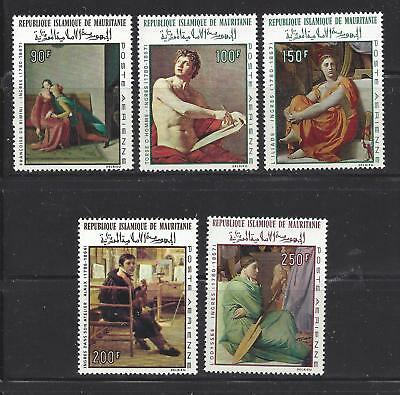 Mauritania - C66 - C70 - Mnh - 1967-1968 - Paintings Of And  By Jean D Ingres