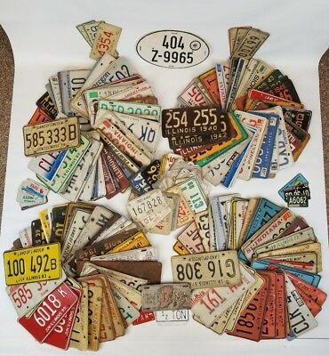 Lot 260+ Mixed License Plate Collection Vanity Motorcycle Bicycle Foreign +More
