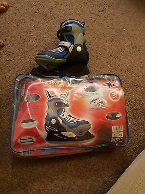 Brand New Adjustable Ice Skating Boots Uk Size 2.5-3