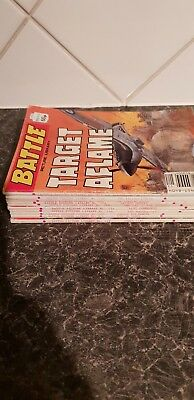 Vintage Battle Comics x 11 - 30p - 60p issues - No's in description