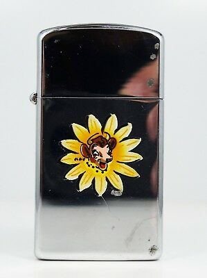 Zippo Borden Slim Elsie The Cow Lighter 1962 No Box Or Papers - W11