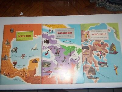 Around The World Program---by American Geographical Society--6 books w/stickers