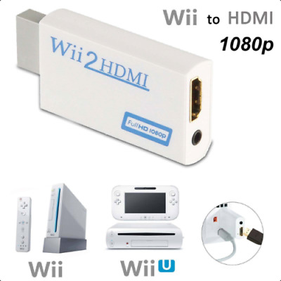 Wii to HDMI Adapter Converter Full HD 1080P Video 3.5mm Audio Output For HDTV (F