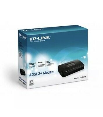 NEW  TP-Link ADSL2+ Modem, Up to 24Mbps Downstream Bandwidth, SHIPS WORLDWIDE